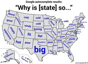 What's Google Autocomplete Say About YourState?