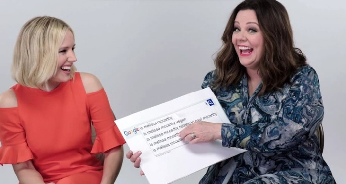 Kristen Bell And Melissa McCarthy Answer All The Questions You've Googled About Them In This Video