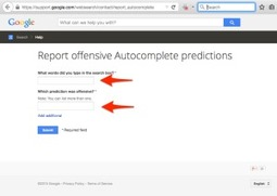 Request Removal of Offensive Google AutocompletePredictions
